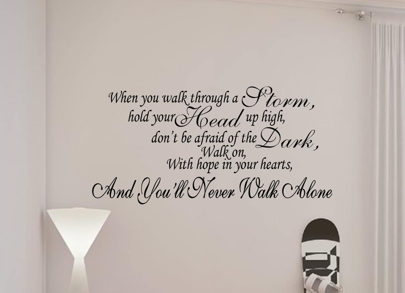 You Ll Never Walk Alone Liverpool Quote Wall Art Decal Sticker