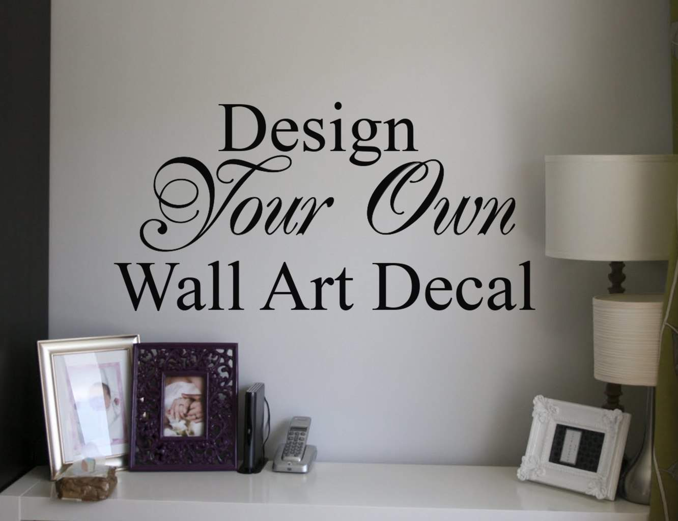 Wall Vinyl Design Your Own : Design your own quote custom wall art decal sticker