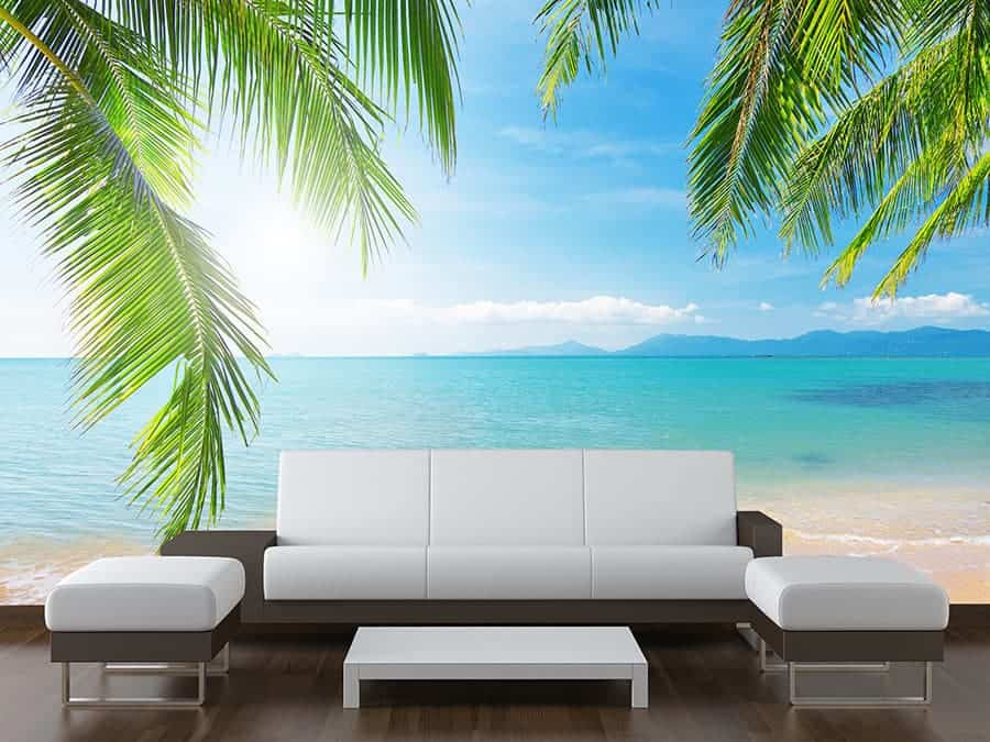 sea view palm tree wall mural made to measure wall murals wall murals amp photo wallpaper made to measure mr perswall